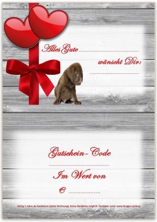 Gutschein Motiv Labrador Welpe