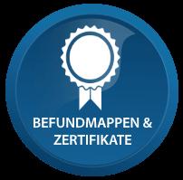 Zertifikate und Befundmappen von FERAGEN